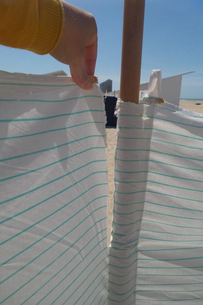 Zelf een strandzeil - windscherm naaien.