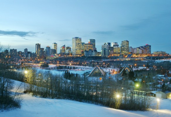 City + Ski in Edmonton & Jasper, Canada - Edmonton skyline
