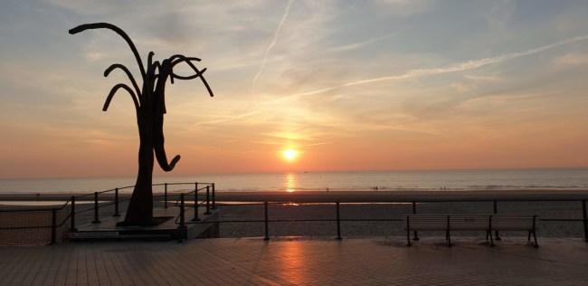Zonsondergang in Oostende
