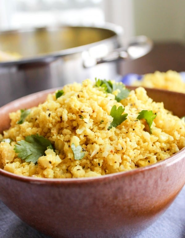 Indian Spiced Cauliflower Rice