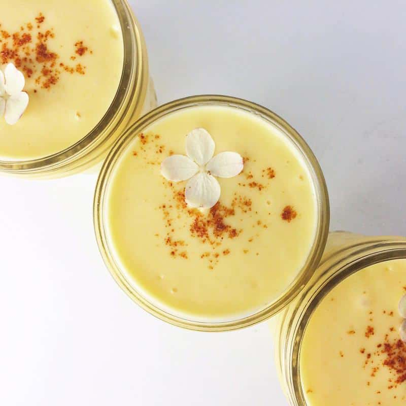 Mango Lassi with Honey and Cayenne