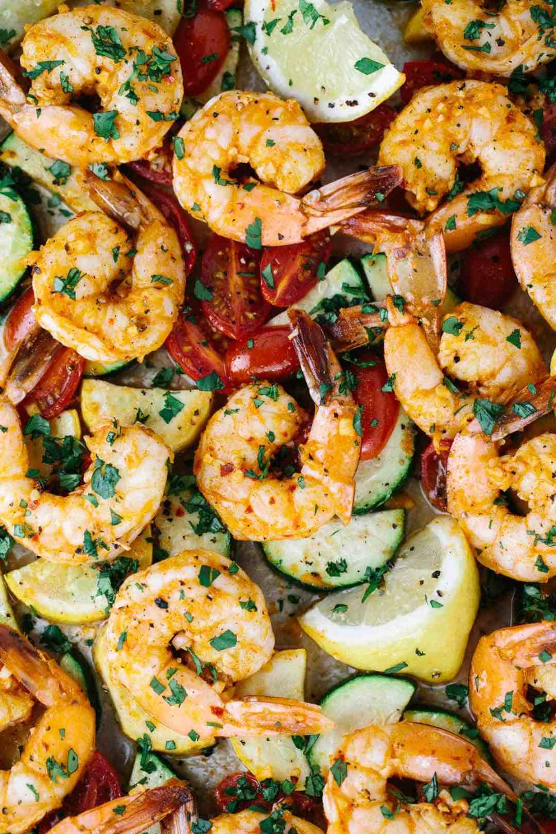 One Pan Roasted Spicy Garlic Shrimp