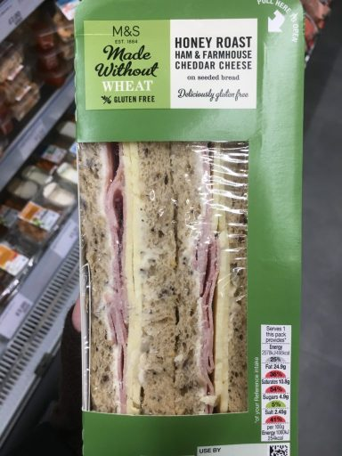 glutenfree, gluten free, gluten free sandwich, glutenfree sandwich, marks and spencer, M&S, travel, gluten free travel, livingcoeliac