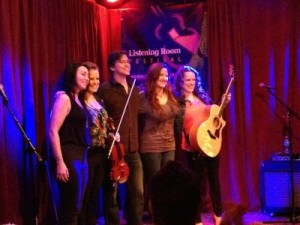 L to R: Mieka Pauley, Julie Kennedy, Fran Snyder (LRF host), Kira Small, and Carli Kennedy.
