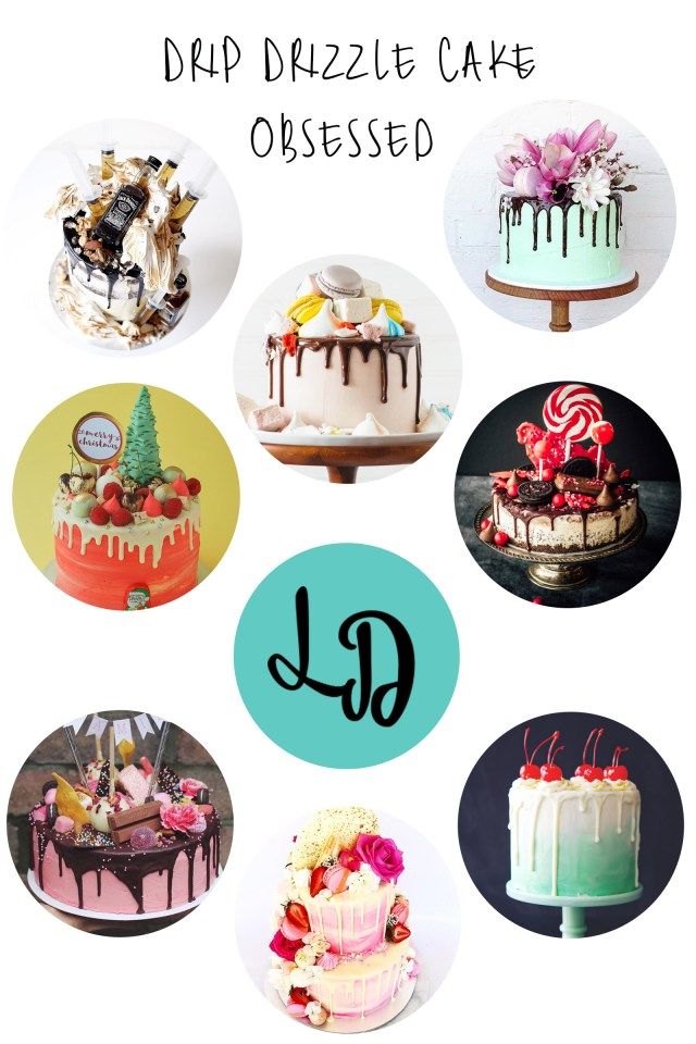 new cake trend drip drizzle cakes