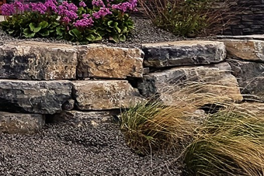Living Earth Landscapes Retaining Wall - Calgary Landscaping