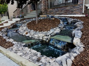 Living Earth Landscapes Waterfall and Water Feature - Calgary Landscaping