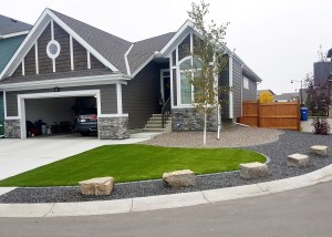 Living Earth Landscapes - Front Yard Landscaping Ideas - Natural Stones