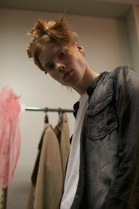Model at PLasticTokyo,Backstage, Fashion week Tokyo, JFW, Menswear, Plastic Tokyo