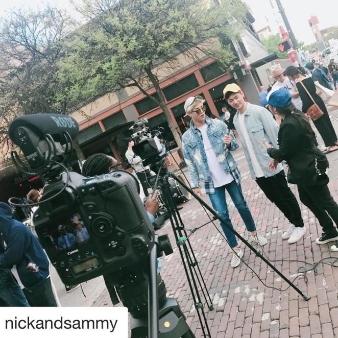 Interviewing Korean artists nickandsammy during sxsw on 6thstreet austin sxswmusichellip