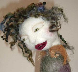 Needle Felting an Art Doll Kit