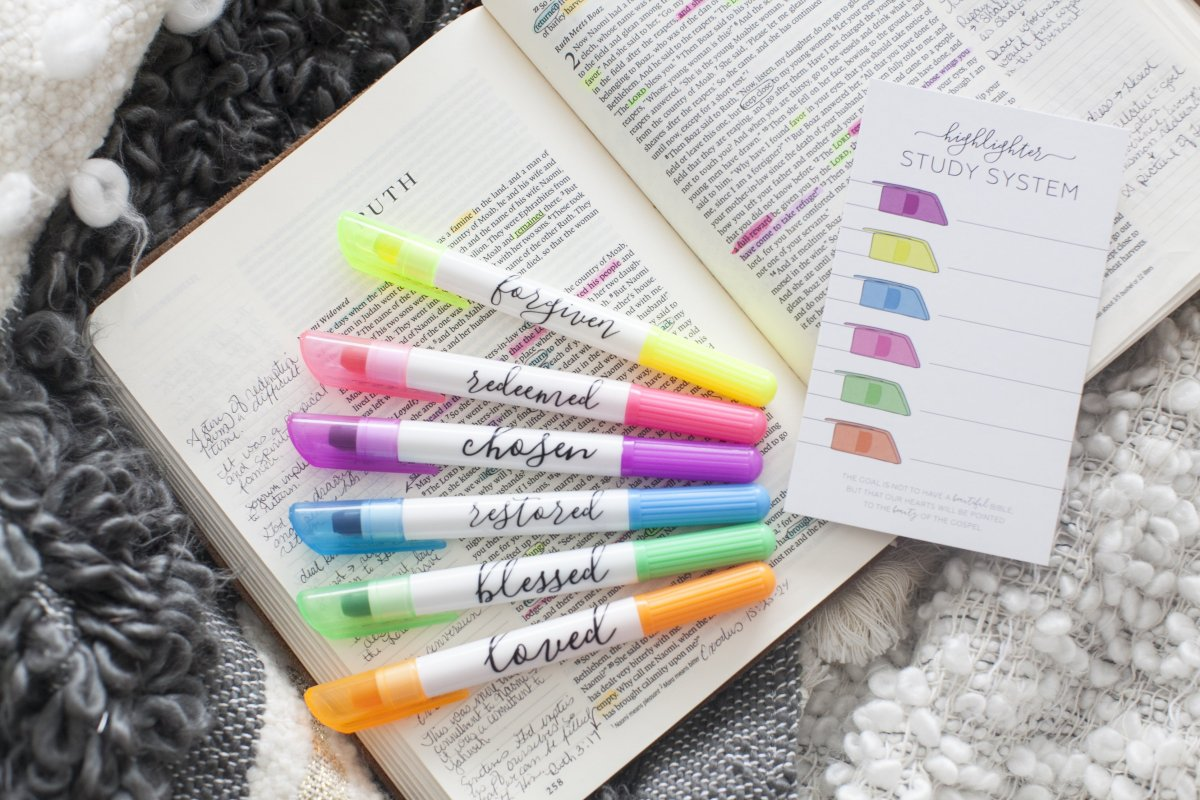 Using Highlighting and Color-Coding to Enhance Your Bible Study