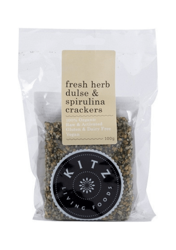 Kitz Living Foods Organic Fresh Herb Dulse & Spirulina Crackers