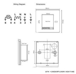 Underfloor Heating Digital Thermostat | eBay