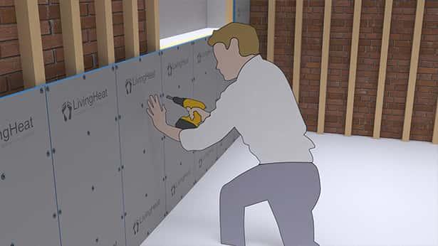 tile backer insulation board living