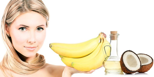 Banana and Coconut Oil Hair Mask