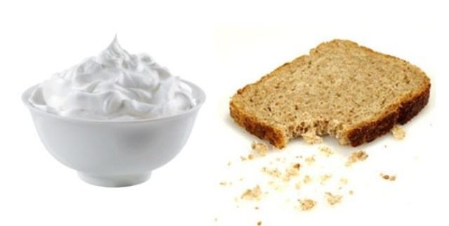 Easy Face Mask Using Bread Crumbs & Milk Cream