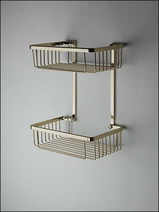 By far the most popular of all home improvement projects is painting the walls. Spa Brass Double Shower Basket | Brass Shower Accessories