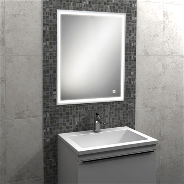 Steamless Recessed Bathroom Mirror Cabinet With Lights