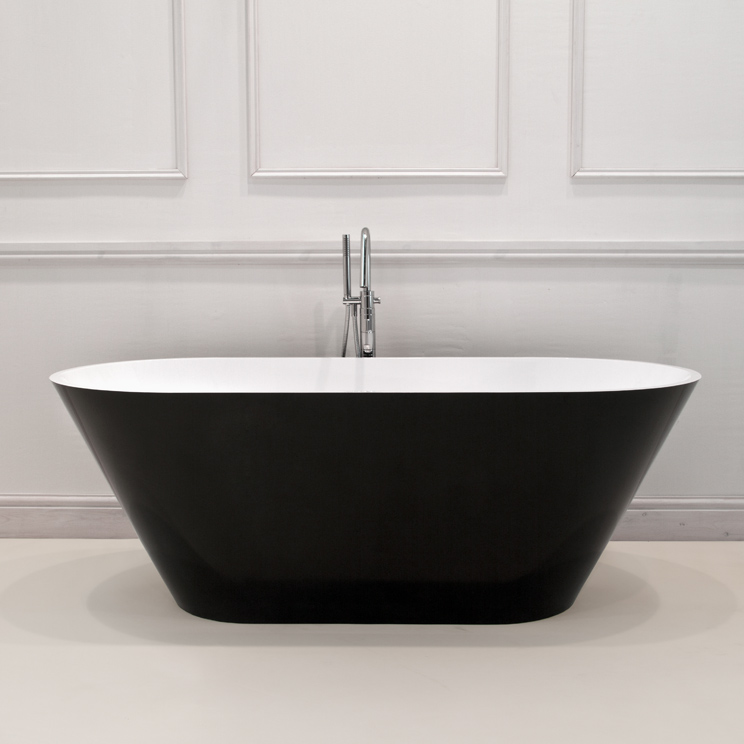 Vogue Gloss Black Bath Black And White Modern Bath
