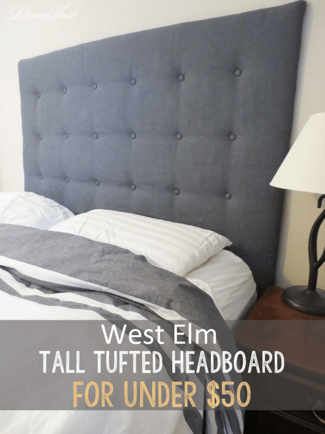 diy west elm tall tufted headboard for under 50 living in a fixer upper. Black Bedroom Furniture Sets. Home Design Ideas