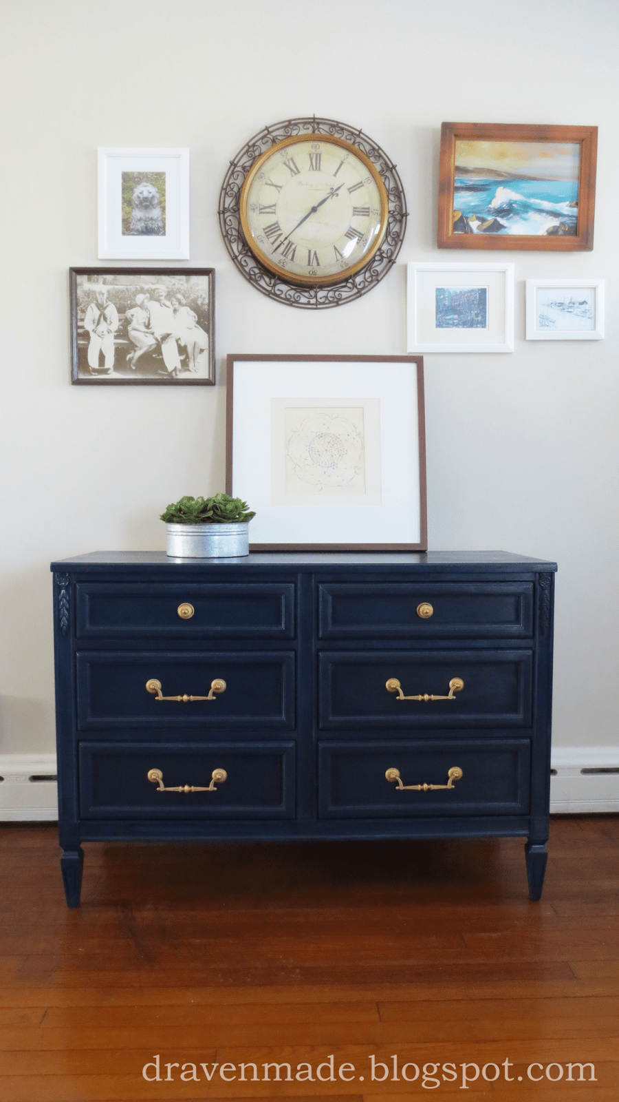 Painted Royal Blue Amp Gold Dresser Living In A Fixer Upper
