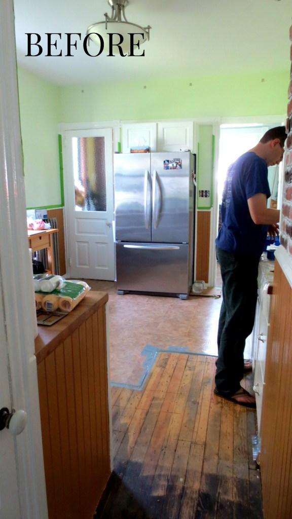 kitchen floor renovation wall paint