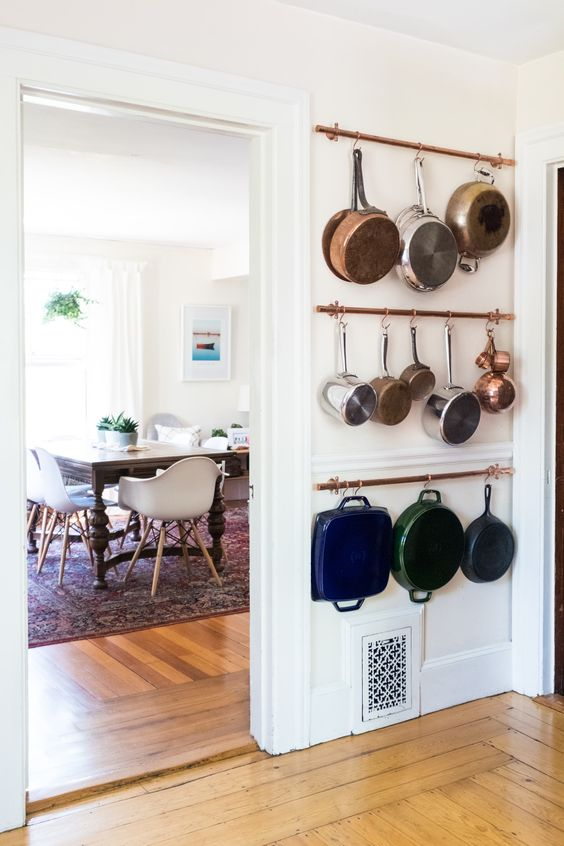 kitchen hanging pot rack