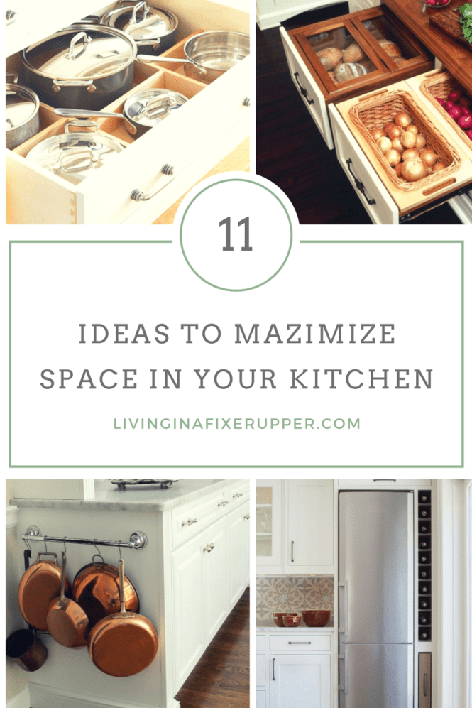 Ideas that work in any size kitchen to maximize space!