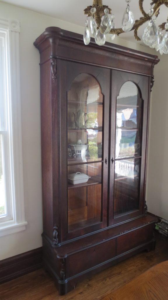 antique empire bookcase fixer upper dining room