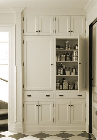kitchen floor to ceiling cabinets storage pantry