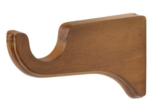 wood curtain rod bracket