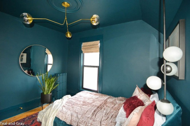 teal and gray guest room fall 2017 orc reveal makeover