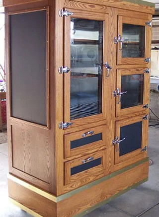 Converted Ice Box Antique Oak