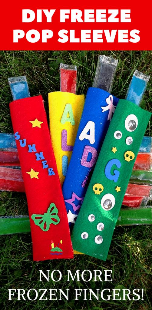 Diy Summer Frozen Popsicle Holder Or Sleeve Kids Craft