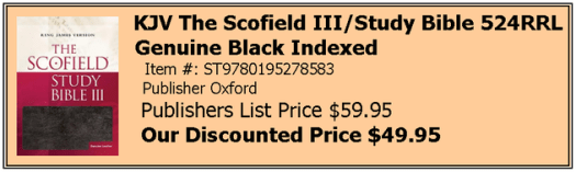 Scofield III Black Indexed