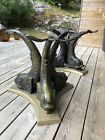 VINTAGE ITALIAN BRASS KOI FISH DINING TABLE OR ENTRY BASE