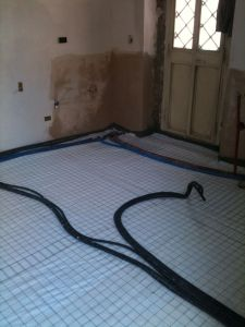 Thermal insulation of the new flooring