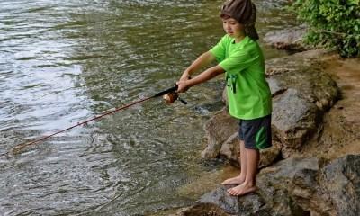 kids fishing day at Jones Bridge Park