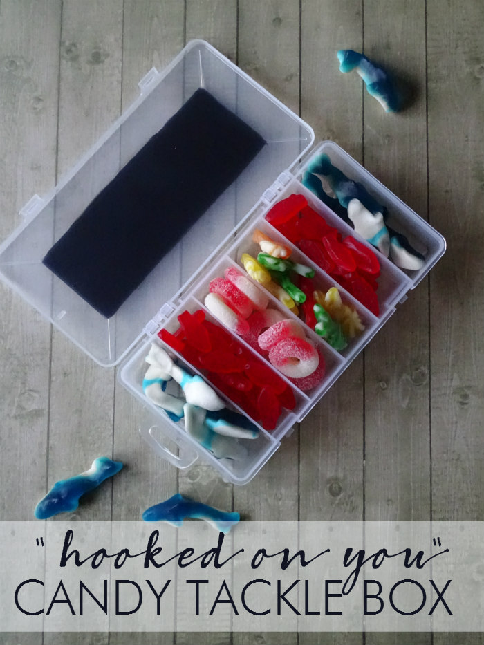 """""""Hooked on You"""" Candy Tackle Box"""