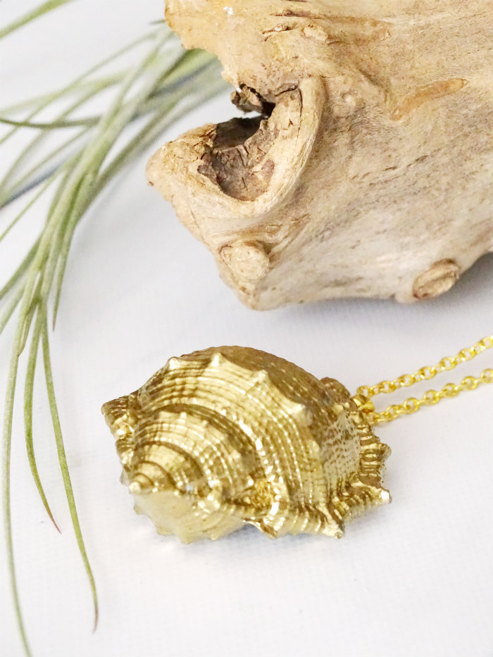 how to make a seashell necklace