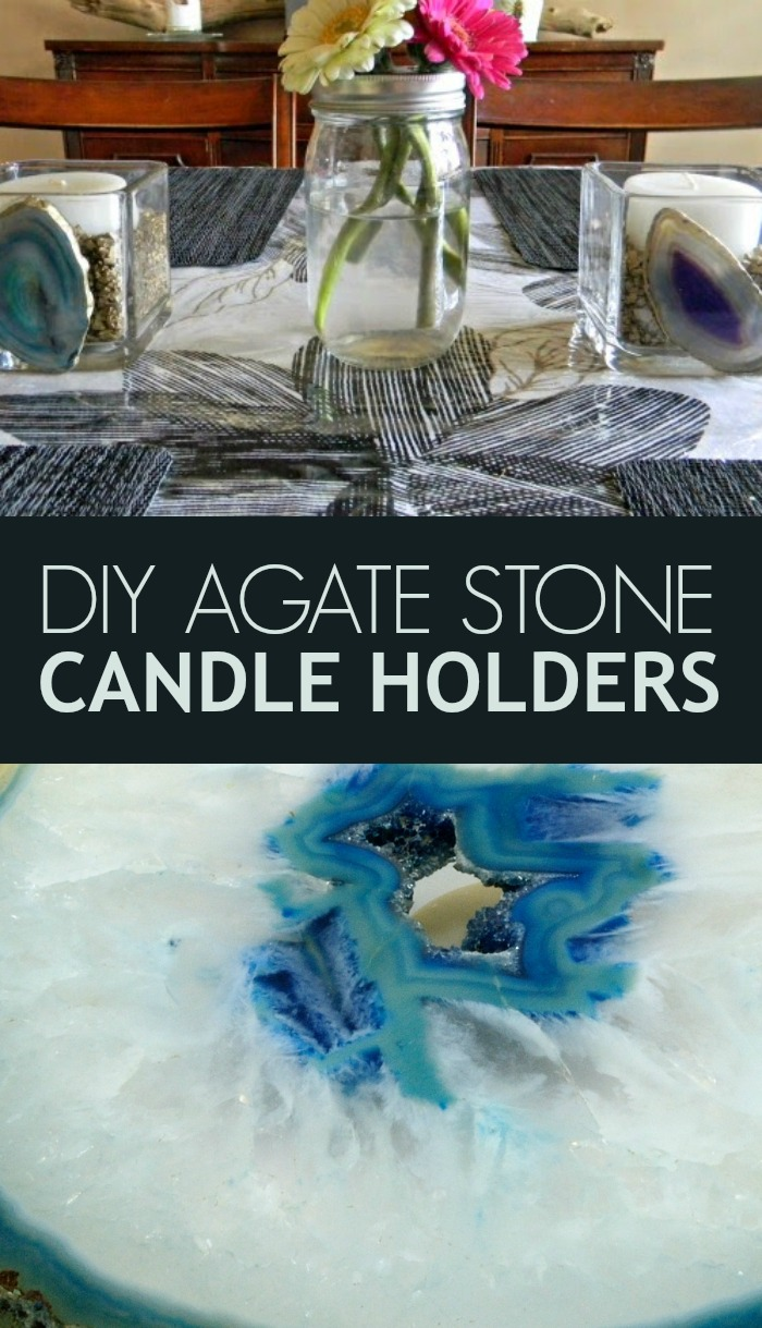 DIY Agate Stone Candle Holders