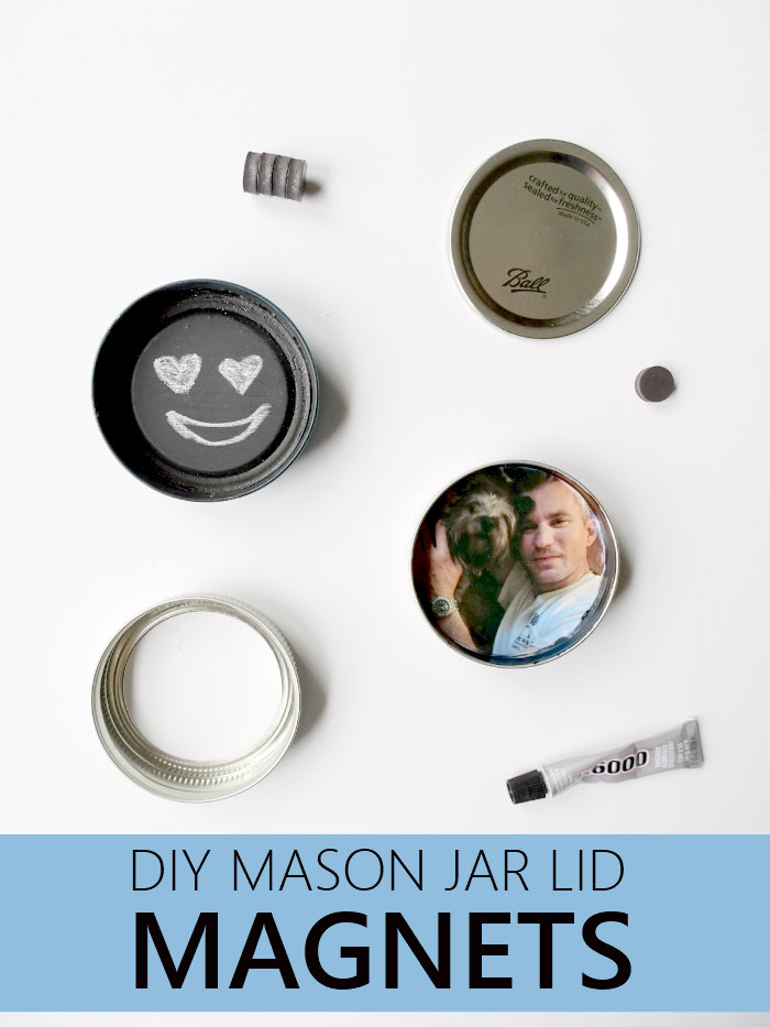 DIY Mason Jar Lid Magnets