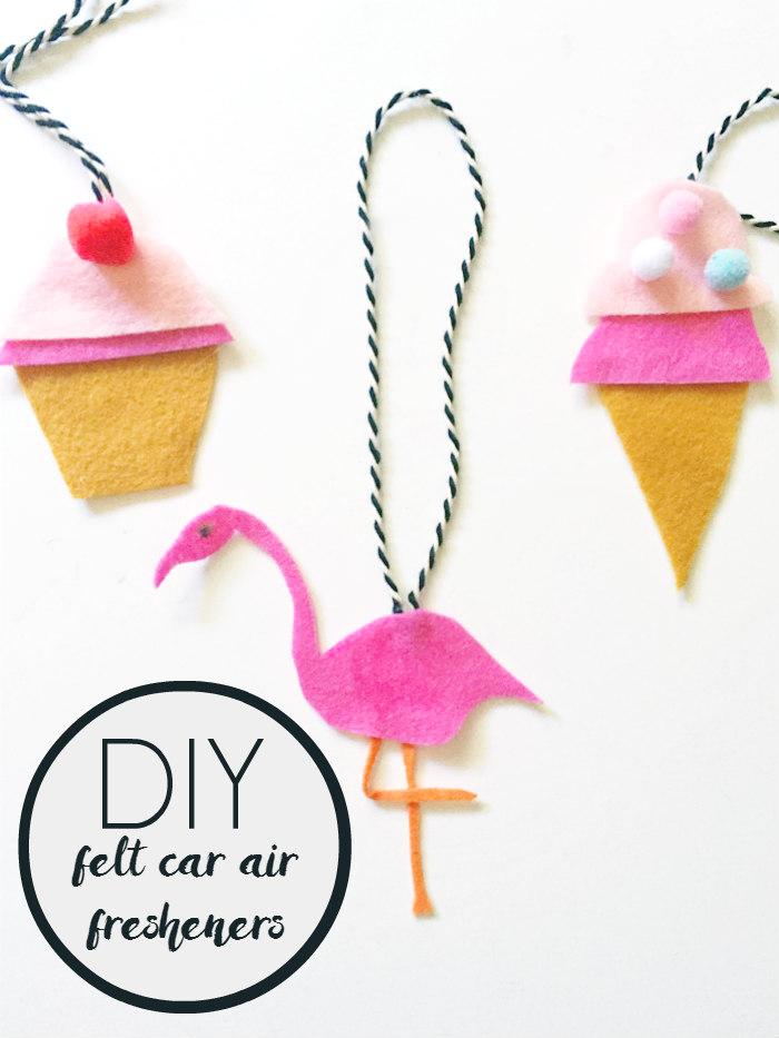 DIY Felt Car Air Fresheners