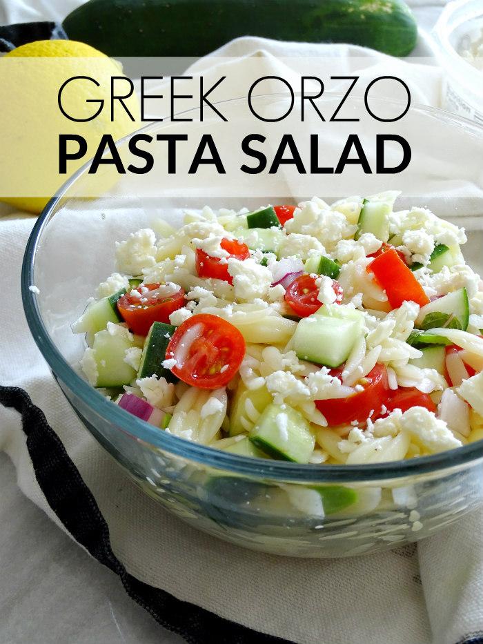 Greek Orzo Pasta Salad