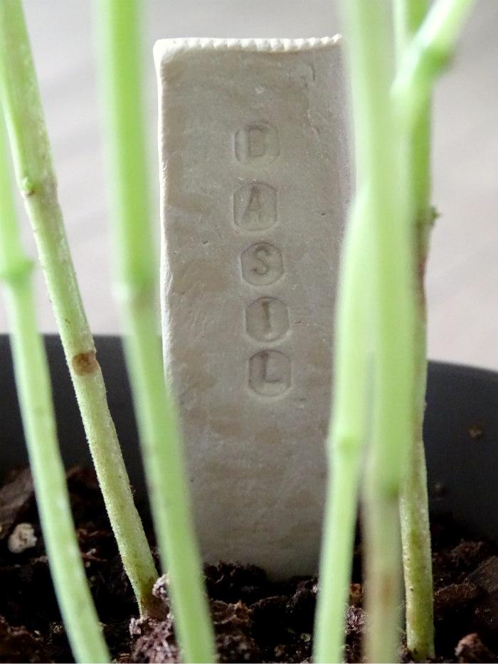 DIY Stamped Clay Garden Marker