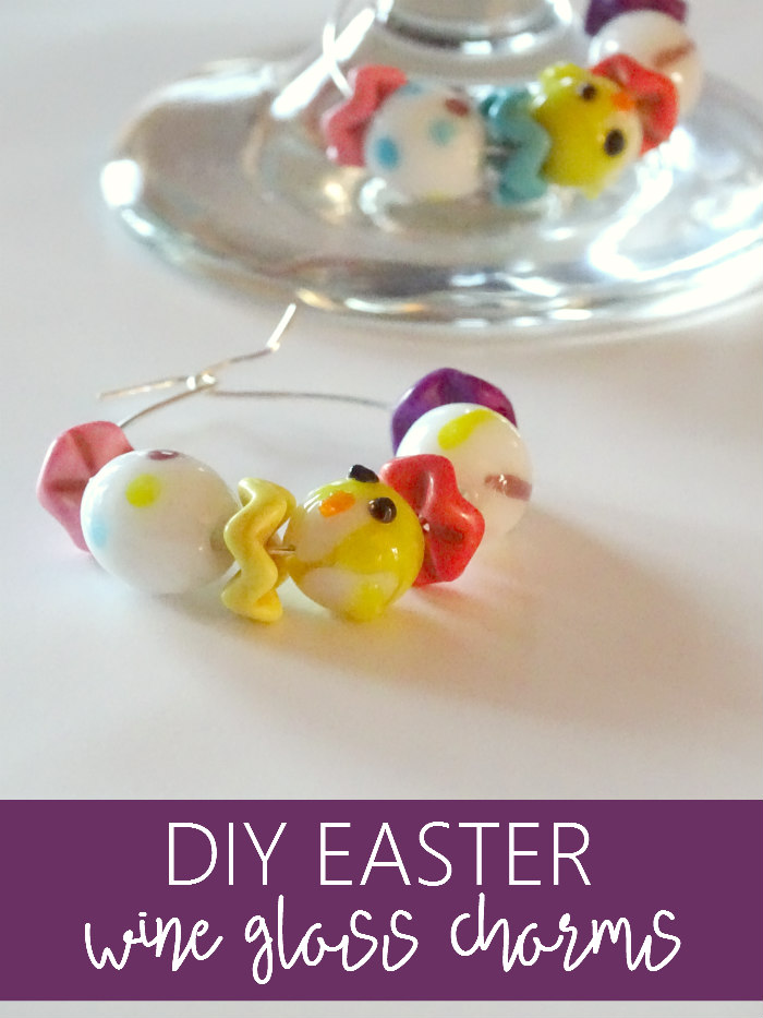 DIY Easter Wine Glass Charms