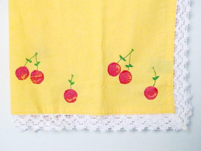 DIY WIne Cork Stamped Cherry Kitchen Towel