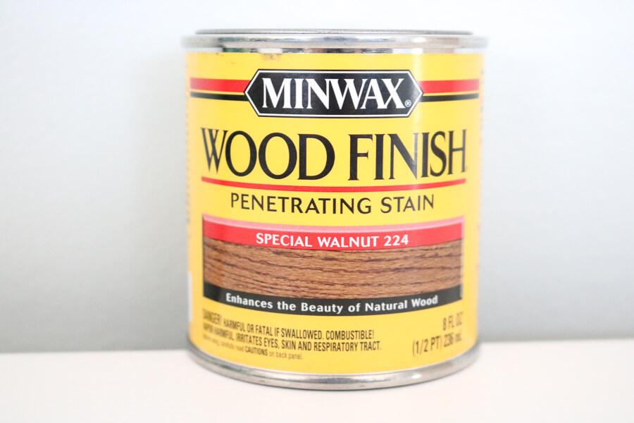 minwax wood stain special walnut