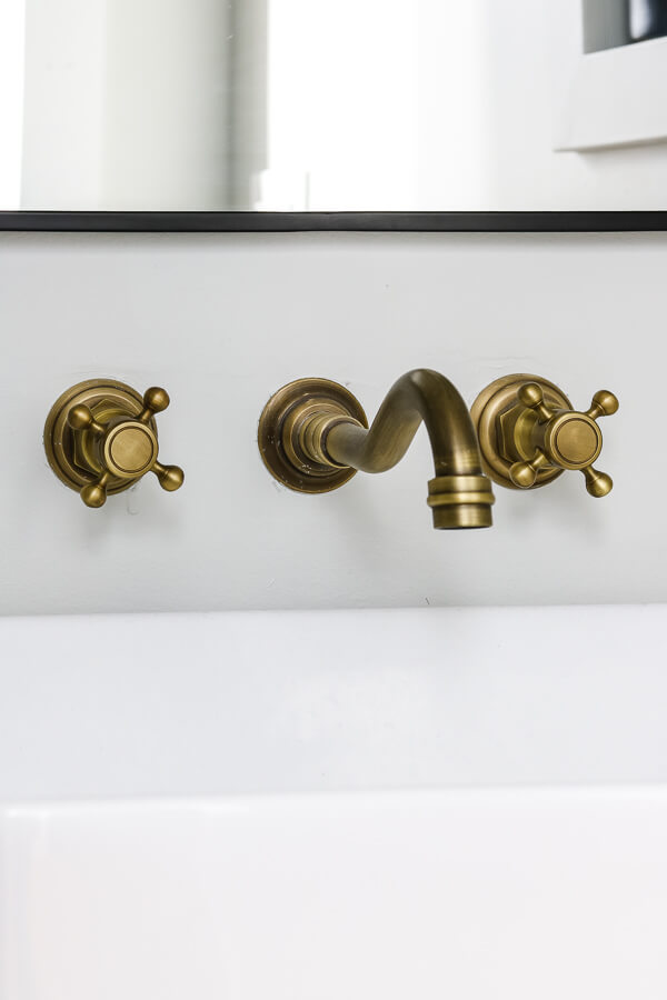 aged brass faucet